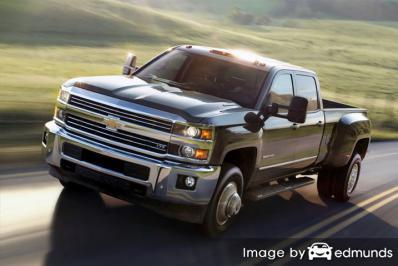 Insurance rates Chevy Silverado 3500HD in Cleveland