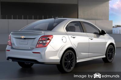 Insurance rates Chevy Sonic in Cleveland