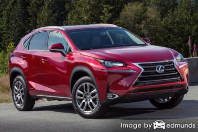 Insurance rates Lexus NX 300h in Cleveland