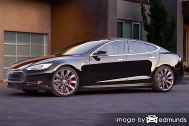 Insurance rates Tesla Model S in Cleveland