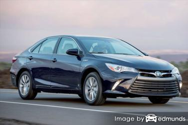 Insurance rates Toyota Camry Hybrid in Cleveland